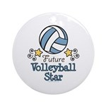 Future Volleyball Star Ornament (Round)