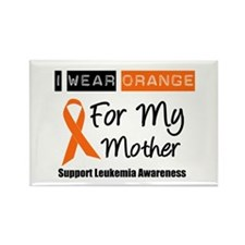 Leukemia I Wear Orange Rectangle Magnet (10 pack)