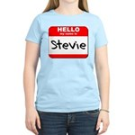 Hello my name is Stevie Women's Light T-Shirt