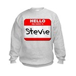 Hello my name is Stevie Kids Sweatshirt
