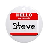 Hello my name is Steve Ornament (Round)