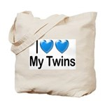 I Love My Twins Tote Bag