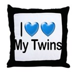 I Love My Twins Throw Pillow