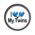 I Love My Twins Wall Clock