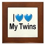 I Love My Twins Framed Tile
