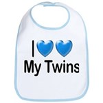 I Love My Twins Bib