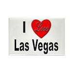 I Love Las Vegas Rectangle Magnet (10 pack)