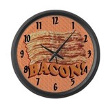 Bacon Love Large Wall Clock