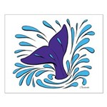 Whale Tail Splash Small Poster