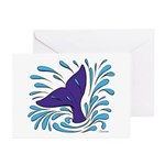 Whale Tail Splash Greeting Cards (Pk of 20)