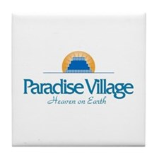 Cute Villages Tile Coaster