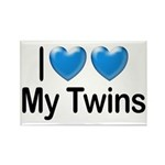 I Love My Twins Rectangle Magnet (100 pack)