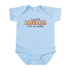I watch BASEBALL with my daddy Infant Bodysuit