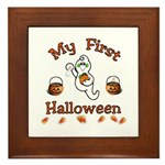 Baby's First Halloween Framed Tile