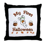 Baby's First Halloween Throw Pillow