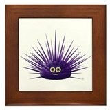 Purple Sea Urchin Framed Tile