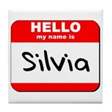 Hello my name is Silvia Tile Coaster