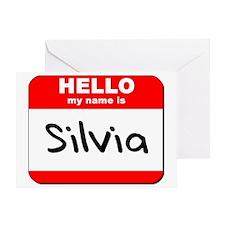 Hello my name is Silvia Greeting Card