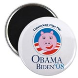 Lipstick on a Pig for Obama Magnet