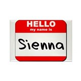 Hello my name is Sienna Rectangle Magnet (10 pack)