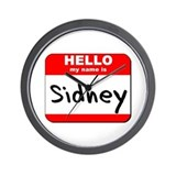 Hello my name is Sidney Wall Clock