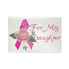 Breast Cancer Support Daughter Rectangle Magnet (1