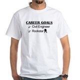 Civil Engineer Career Goals Rockstar Shirt