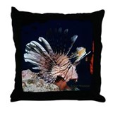 Red Sea Lionfish Throw Pillow