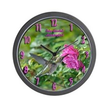 Female Hummingbird Wall Clock