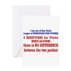 No VOTE #2 Greeting Card