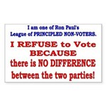 No VOTE #2 Rectangle Sticker 10 pk)