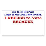 NO VOTE #1 Rectangle Sticker 10 pk)