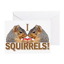 I Heart / Love Squirrels! Greeting Card