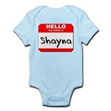 Hello my name is Shayna Onesie