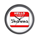 Hello my name is Shawna Wall Clock