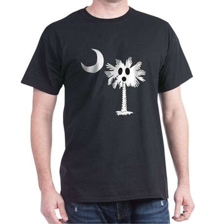 Halloween Ghost Palmetto Dark T-Shirt