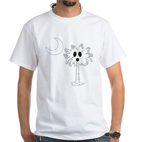 Halloween Ghost Palmetto White T-Shirt