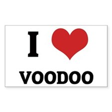 I Love Voodoo Rectangle Decal