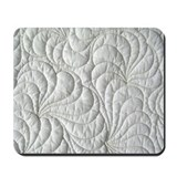 Whitework feathers Mousepad
