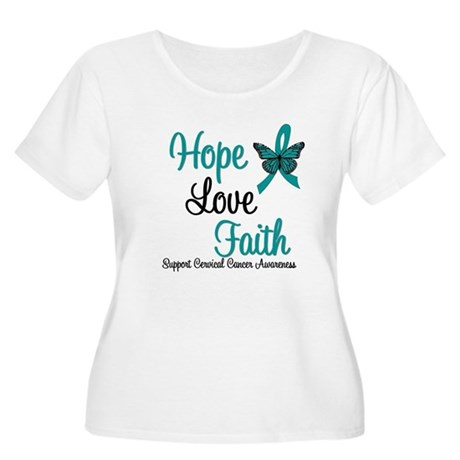 Hope Love Faith Cervical Cancer Women's Plus Size