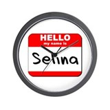 Hello my name is Selina Wall Clock