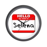 Hello my name is Selena Wall Clock