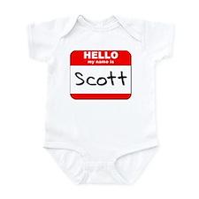 Hello my name is Scott Infant Bodysuit