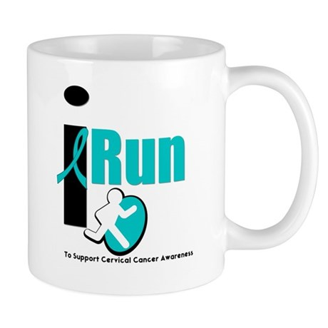 I Run Cervical Cancer Mug