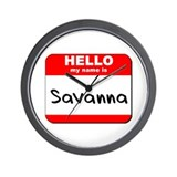 Hello my name is Savanna Wall Clock