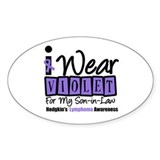 Hodgkin's Ribbon Oval Sticker (10 pk)