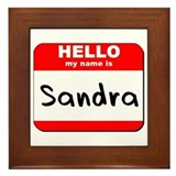 Hello my name is Sandra Framed Tile