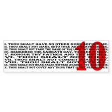 Ten Commandments Bumper Bumper Sticker