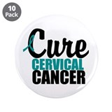 "Cure Cervical Cancer 3.5"" Button (10 pack)"