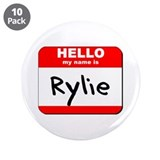 "Hello my name is Rylie 3.5"" Button (10 pack)"